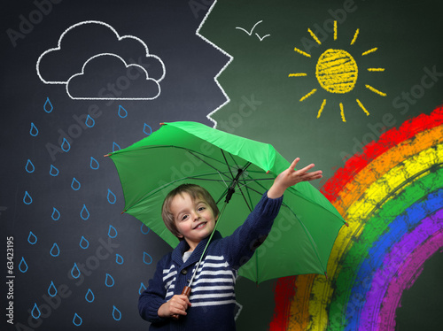 Fototapeta Young optimist - a change in the weather