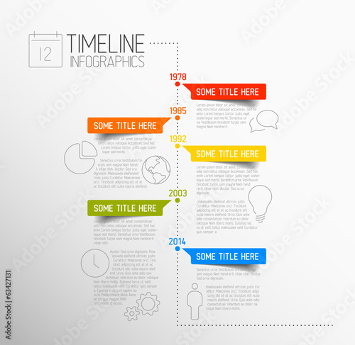 Fotografie, Tablou  Infographic timeline report template
