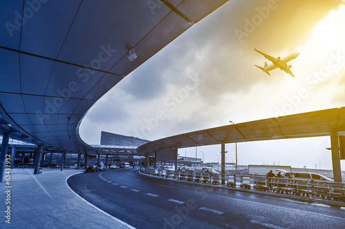 Fotografie, Obraz  the scene of airport building in shanghai china