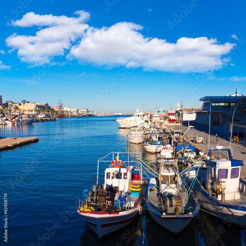 Fototapeta Gandia port puerto Valencia in Mediterranean Spain obraz na płótnie