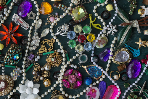 Fotografie, Obraz  Costume jewelry collage