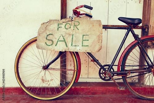 Deurstickers Fiets For sale