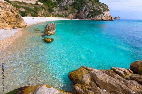 Photo  Javea La Granadella beach in Xabia Alicante Spain