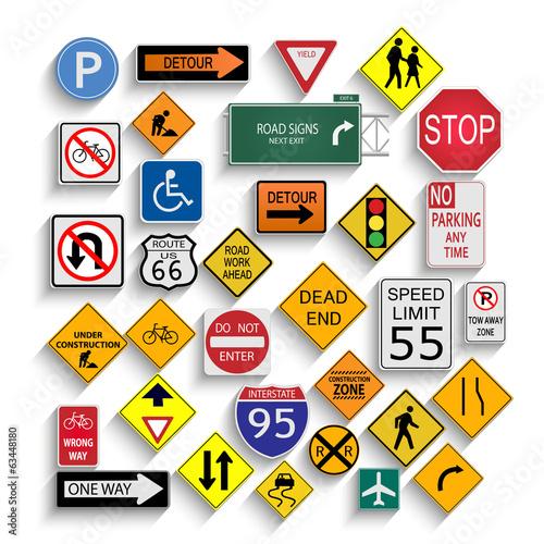 Obraz na płótnie Znaki drogowe