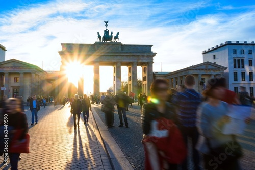 Spring at Brandenburg Gate Poster