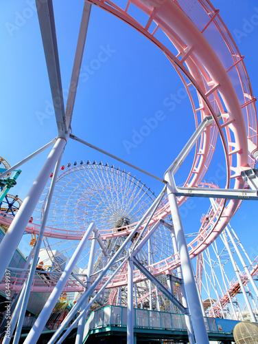 Amusement park in Yokohama Fototapet