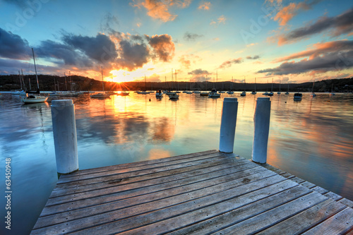 Obraz Sunset at Point Frederocl wharf Australia - fototapety do salonu