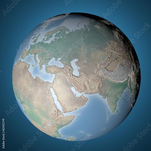 Europa Asia Cartina.Cartina Globo Terra In Rilievo Europa Asia E Africa Buy