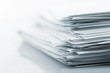 canvas print picture - Stack of white papers