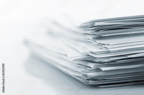 Fotografía  Stack of white papers