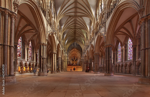 Lincoln Cathedral Nave Fototapeta