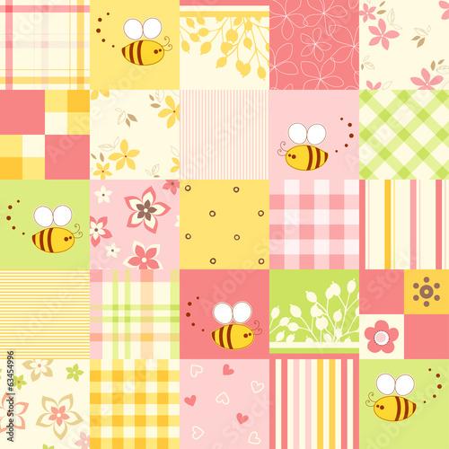 Seamless Cute Bee