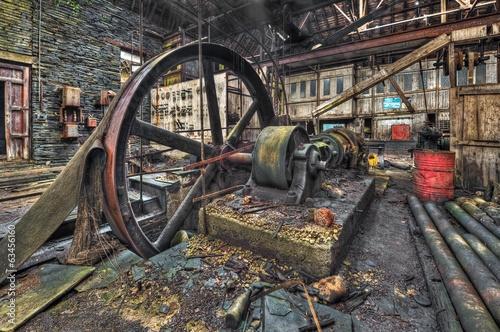 Wall Murals Bestsellers Old machinery in derelict workshop