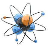 Abstract chemical concept. Atom or molecule sign.