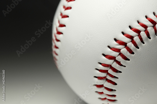 Close up of a brand new baseball