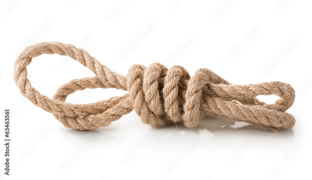 Fototapety, obrazy: Coil of rope isolated