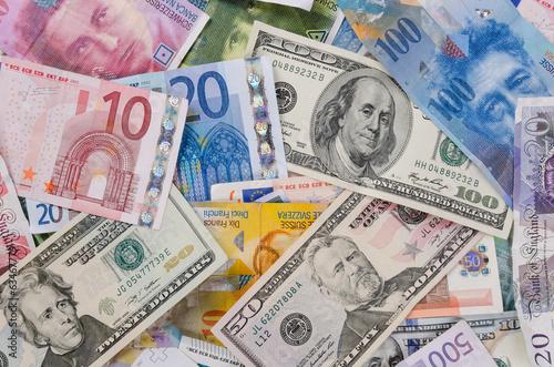 Currencies Canvas Print
