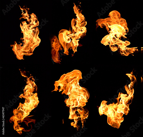 Canvas Print flame