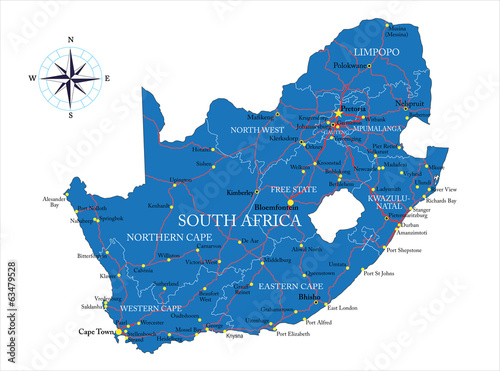 Photo South Africa map