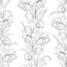 Spring Flowers Fabric Seamless...