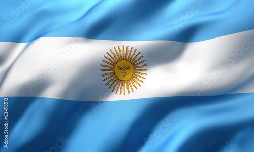 Fotografía flag of Argentina