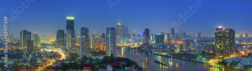 In de dag Bangkok Bangkok night view