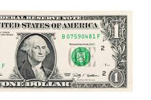 One Dollars Isolated On White Background