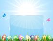 Blue Easter banner