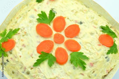 Fotografie, Obraz  sałatka warzywna w salaterce
