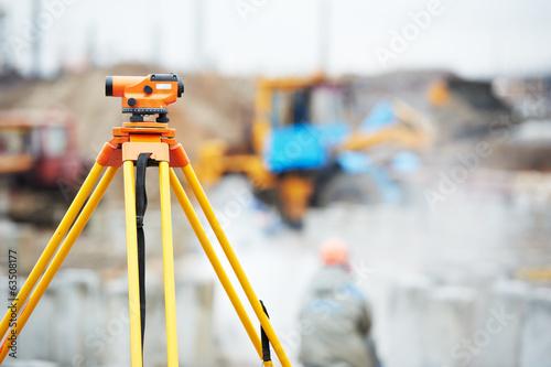 Fotografie, Obraz surveyor equipment optical level outdoors