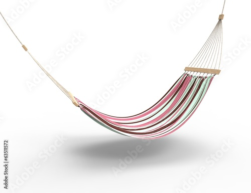 Photo  Pink Worn Hammock Isolated