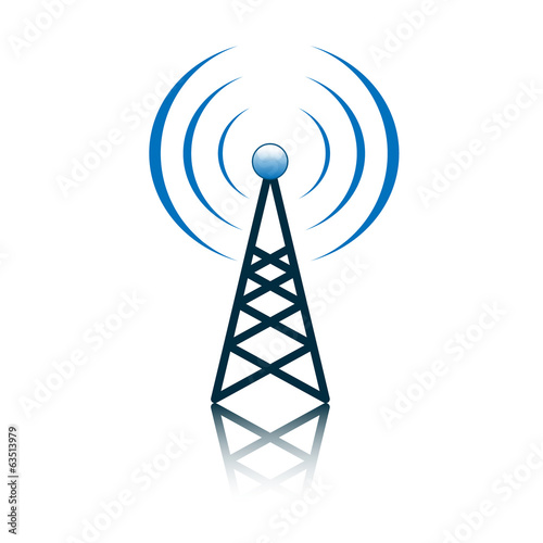 Blue antenna mast sign Wallpaper Mural