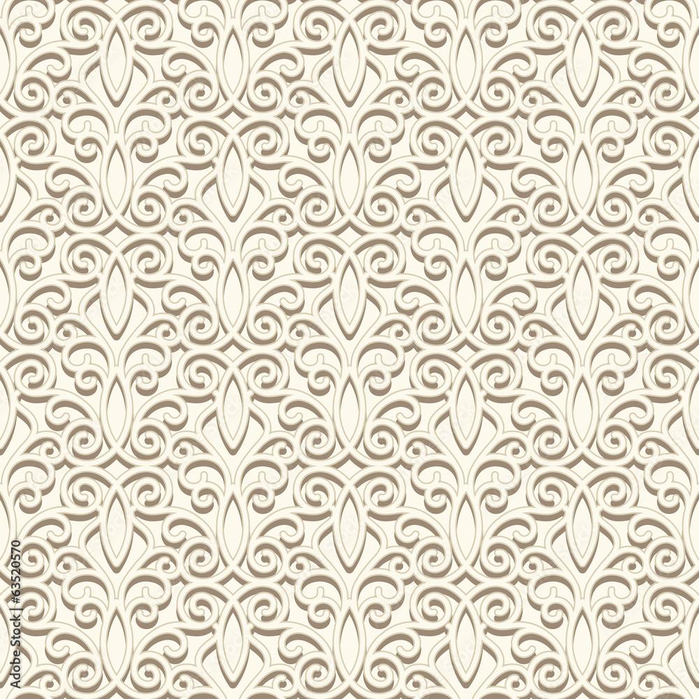 Vintage light beige seamless pattern