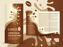 Brochure Folder Coffee Beans E...