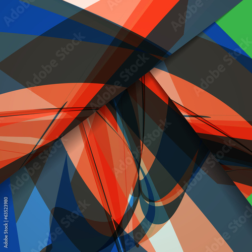 Spoed Fotobehang Luchtsport Abstract colorful illustration