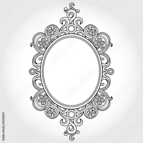48e3a04d980 Vintage ornate frame with place for your text. Victorian decor ...