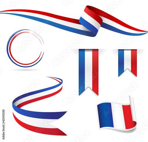 Obraz Francia bandiera - fototapety do salonu