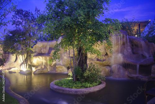 waterfall at night