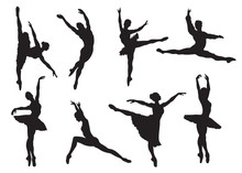 Silhouettes Of Ballet Dancers