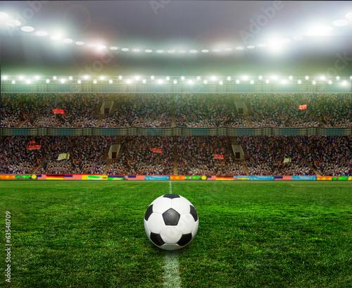 Fototapety, obrazy: Soccer bal.football,