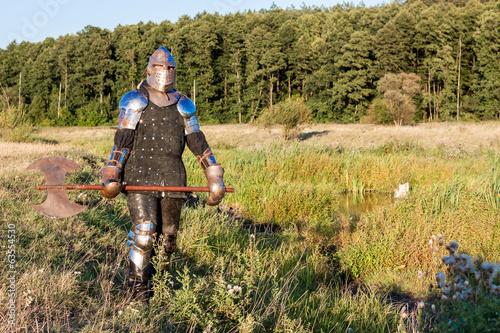 In de dag Afrika Medieval knight