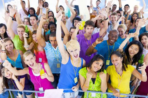 Fotografie, Obraz  Large Group of People Celebrating