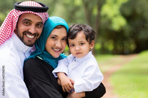Photo  happy Arabic family