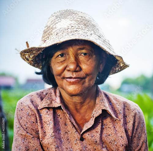 Cambodian Local Female Farmer Fototapete