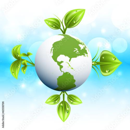 Spoed Foto op Canvas Turkoois Green planet