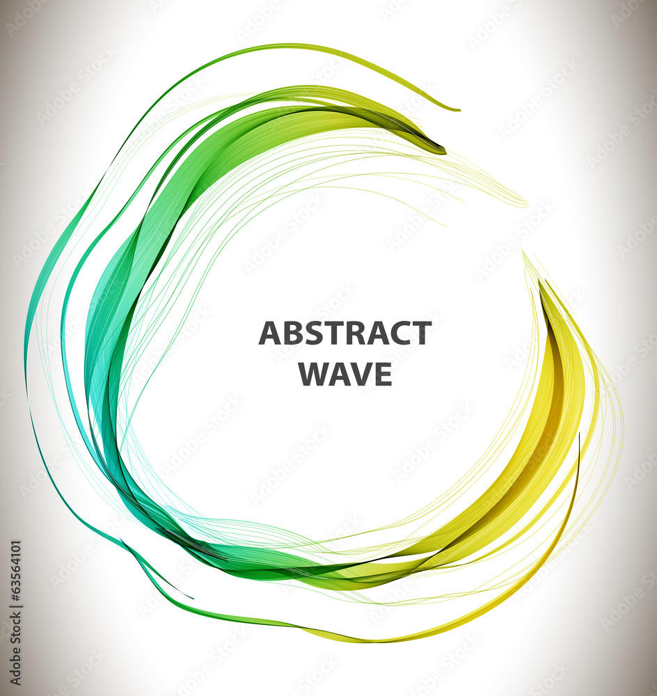Abstract colorful background with circle wave