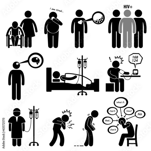 Fotografía  Man Common Diseases and Illness Cliparts