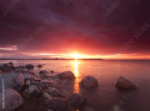 Canvas Prints Crimson Sunsetting, north of Sweden
