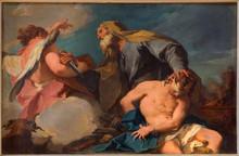 Vneice - Abraham And Isaac In Church San Francesco Della Vigna