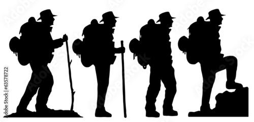 Fotografie, Obraz  hiker2 silhouettes